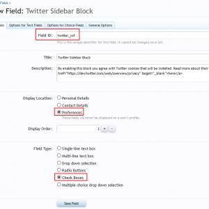 Add custom user field - Basic Info tab