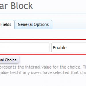 Add custom user field - Choice tab