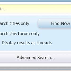 [cXF] QuickSearch Customization: Example Option in forum view